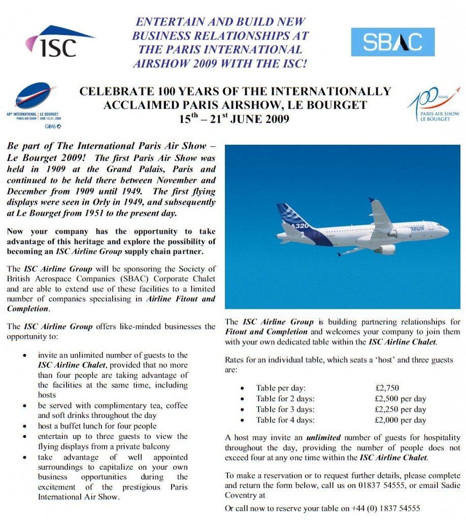 Paris International Airshow Flyer