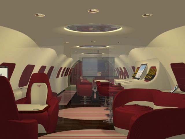 Fuselage interior 3D model