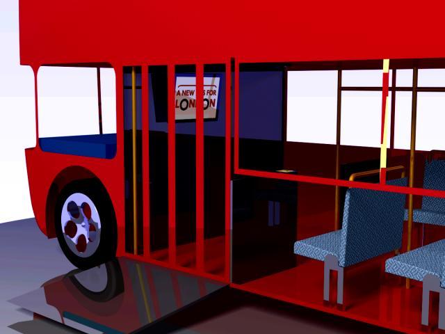3D Model of a London Bus